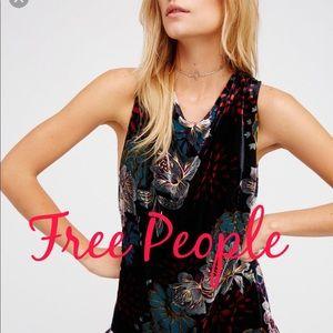 NWT Free People Velvet Burnout Mini XS